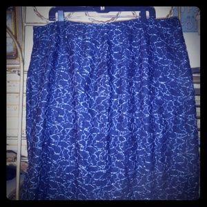 Avenue brand Black Lace midi skirt
